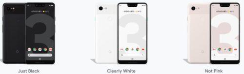 Google_Pixel_3のカラー展開