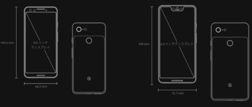 「Google Pixel 3」と「Google Pixel 3 XL」の違い|どっちが良いの?