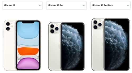 iPhone 11・Pro・Pro Maxの大きさ